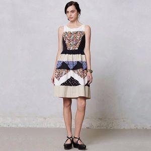 Anthropologie Leifnotes Ivete Patchwork Dress